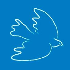 Dove Logo Blue background
